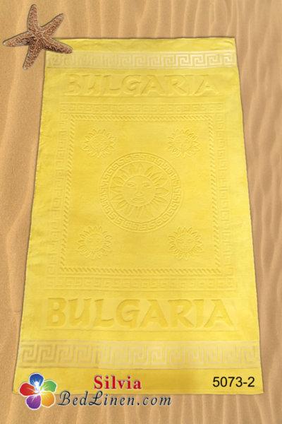 Плажна кърпа България - жълта